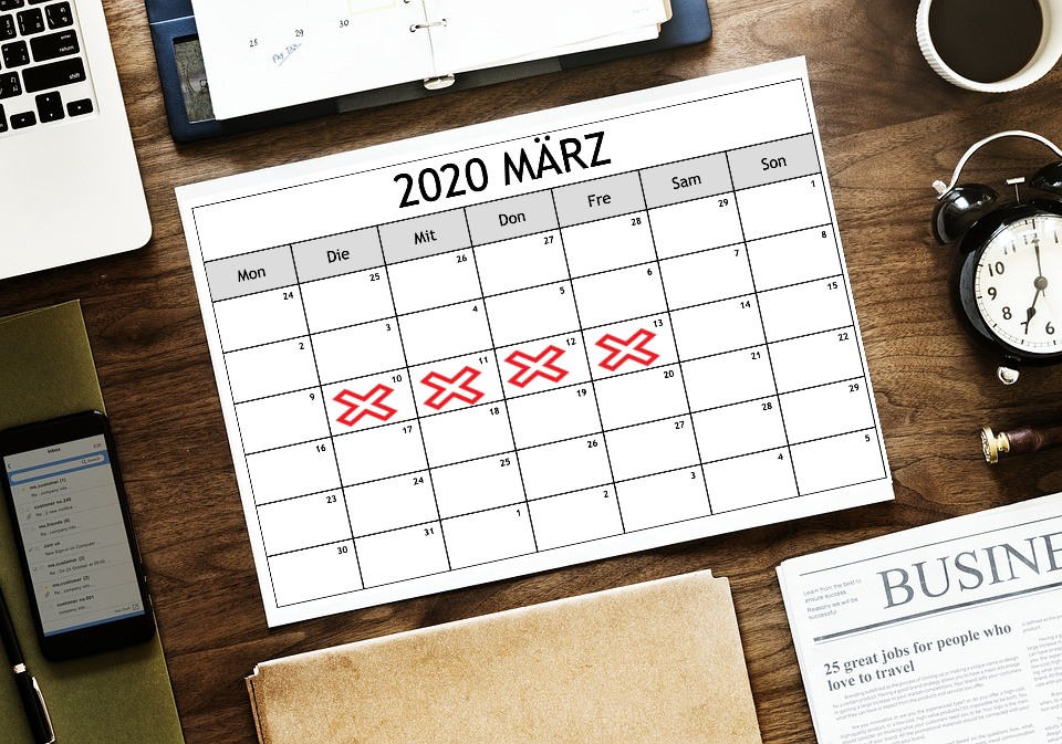 Kalender März 2020